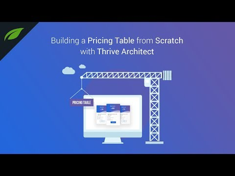 How to Build a Pricing Table from Scratch with Thrive Architect