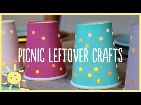 PLAY | Picnic Leftover Crafts! (Paper Plates, Cups, Plastic Utensils)