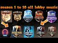 Download lagu Pubg Mobile : Season 1 To 10 all theme songs 👌season 1 to 10 all lobby music  pubg all season music
