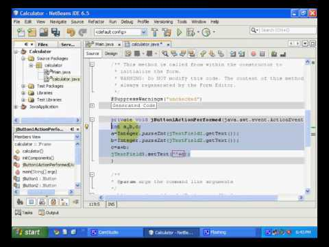 Make a simple Java App in NetBeans IDE using Swing Controls