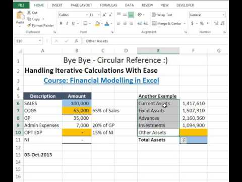 20 - Circular References   Handling Iterative Calculations With Ease - Excel Basement