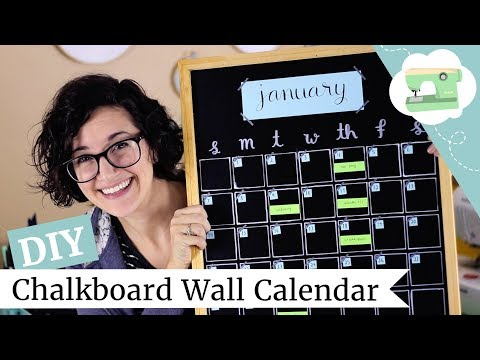 DIY Wall Calendar - How To Make a Chalkboard Monthly Planner | @laurenfairwx