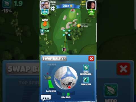 Golf Clash username Jeff hacks the ball's spin.