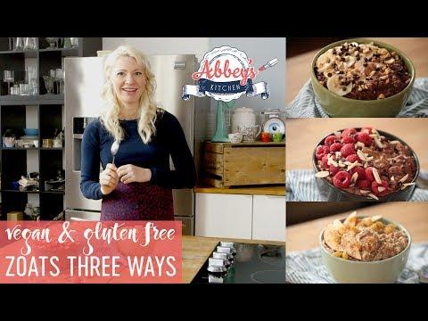 VEGAN Gluten Free ZOATS 3 Ways | Zucchini Oatmeal Healthy Fast Breakfast Recipes