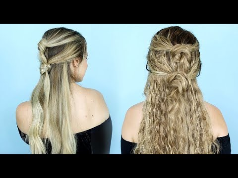 Double Knot Half Updo for Straight and Curly Hair! - KayleyMelissa