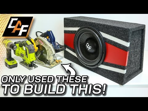 BASIC TOOLS ONLY! Subwoofer Box Build - Step by Step