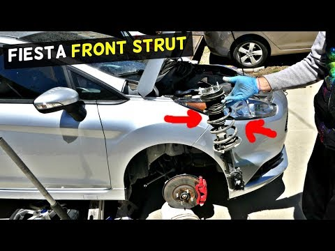 FORD FIESTA FRONT STRUT REPLACEMENT REMOVAL MK7 ST