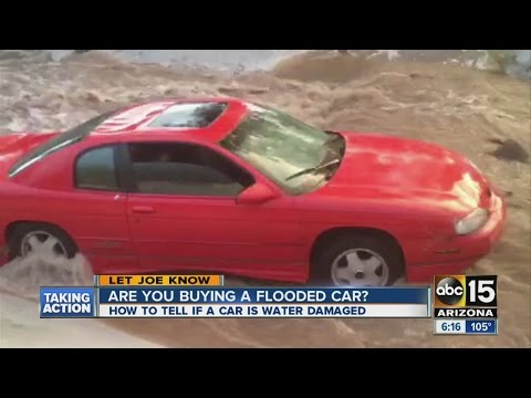 5 ways to tell if you're buying flooded car