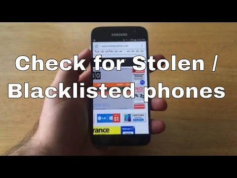 Samsung Galaxy S7 - check imei stolen / blacklisted.