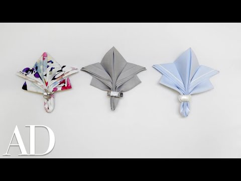 6 Easy Napkin Folds for Any Dinner Party   Architectural Digest