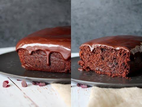 Moist Chocolate Banana Loaf Cake With A Baileys Glaze - By One Kitchen