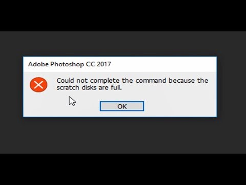 Fix! Scratch disks are full in photoshop cc2017