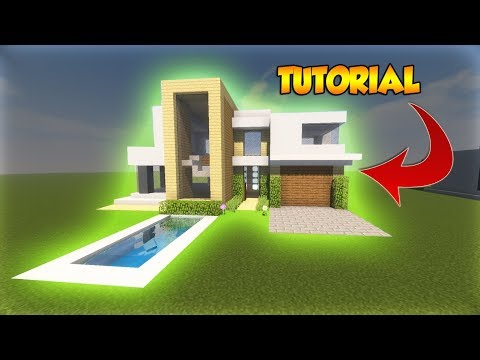 Minecraft: Large Modern Tutorial - Cool Modern House Tutorial