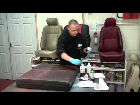 LRC Part 3 leather seat restoration and re colouring
