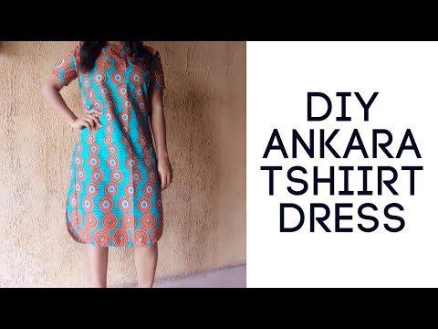 DIY Ankara T-shirt dress