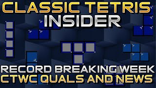 CTWC History in the Making! Classic Tetris Insider Hosted by Sharky [Ep 02]