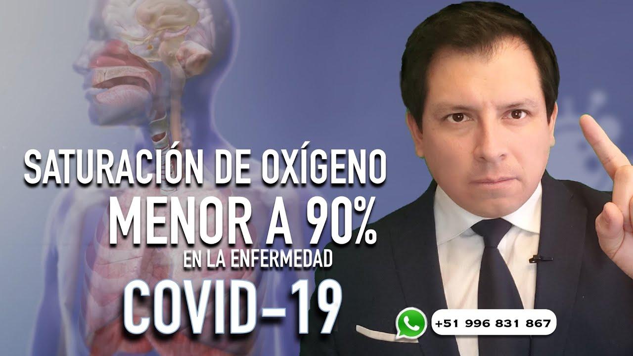 SATURACIÓN DE OXÍGENO MENOR AL 90% EN LA ENFERMEDAD COVID-19 ¿QUÉ HACER?
