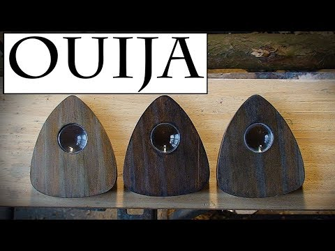 Making a Planchette for the Ouija Board.