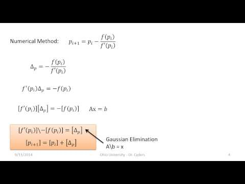 Root Finding with Newton Raphson