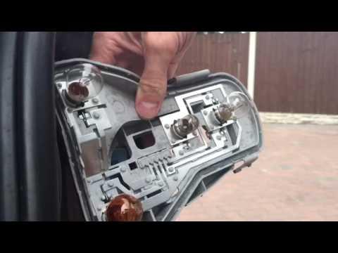 How to change rear brake stop light bulb VW Polo MK4