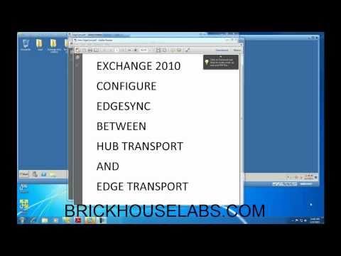 Exchange 2010 EdgeSync Edge Transport Subscription