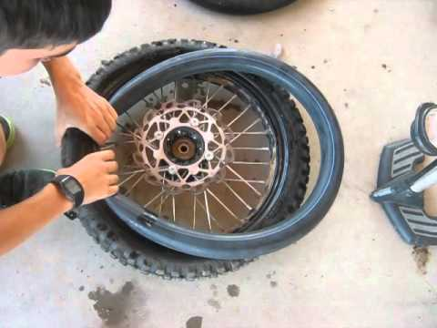 how to change a dirtbike/pit bike tire/innertube
