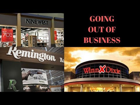 GOING OUT OF BUSINESS!  More retail stores bite the dust