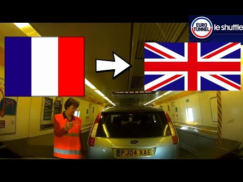 Eurotunnel Calais To Folkestone By Car * France To UK Step By Step Boarding 2018