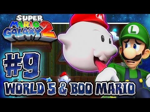 Super Mario Galaxy 2 - Part 9 (1080p 60FPS 100%): World 5 & Boo Mario w/Facecam