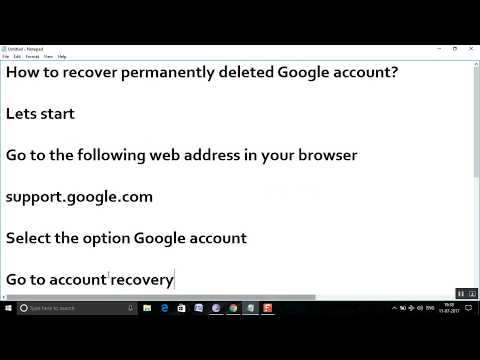 How to recover permanently deleted Google account?