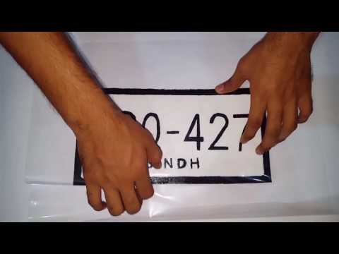 How to make Moveable Duplicate Number/License plate with card board | D Modified