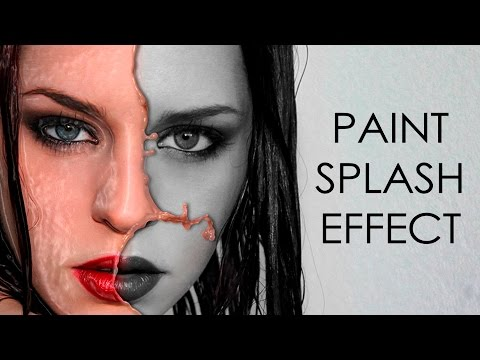 Paint splash effect | photoshop tutorial | photo effects