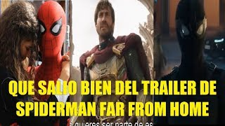 Download Que Salio Bien del Trailer de Spiderman Far From Home (Lejos de Casa) Reseña! Video