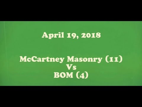 April 19, 2018- McCartney Masonry vs BOM- Boys Coach Pitch baseball