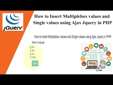 How to Insert Multiple checkbox values and Single values using Ajax Jquery in PHP | Best Example 🔥🔥