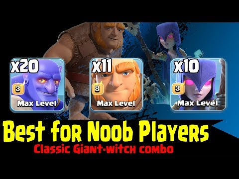 Best For Noob Player In War | 10 Witch 20 Bowler 11 Giant Ground Attack TH11 Clash Of Clans