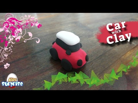clay car | how to make a car with clay | magic clay to toy