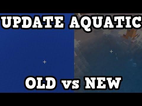 Minecraft 1.4 / 1.13 - NEW WATER vs OLD WATER (Aquatic)
