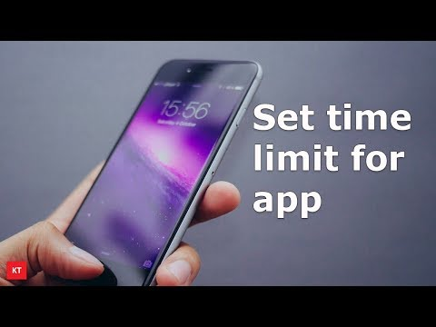 How to set time limit for most frequently used apps in iPhone