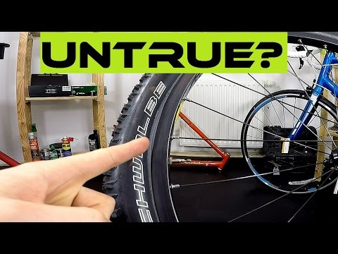 Truing the tire? How NOT to install the bike tire. Bicycle maintenance tutorial