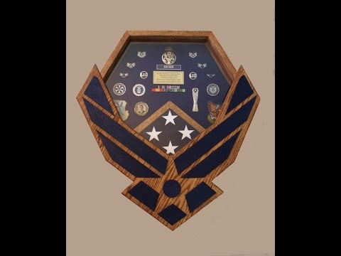 Air force Retirement Shadow Box  DIY