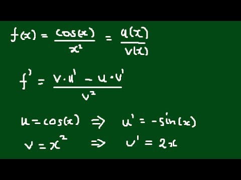 Derivative of cos(x)/x^2? - Applying the Quotient Rule