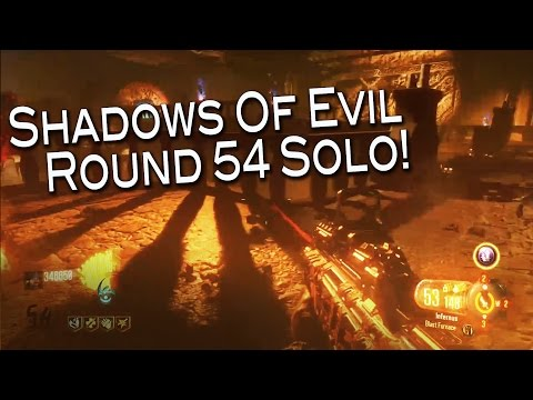 Shadows Of Evil - Solo round 54. (Black ops 3 Zombies)