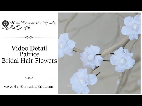Silk Flower Hair Pins ~ Bridal Hair Accessories and Jewelry by Hair Comes the Bride