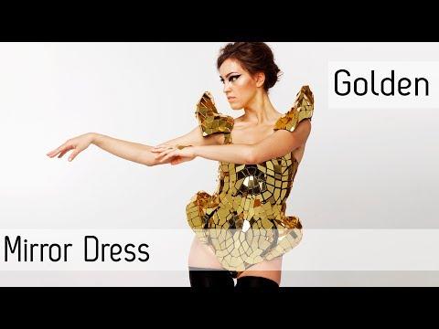 Disco ball glass mirror dress corset bodysuit ETEREshop #fashionperformance
