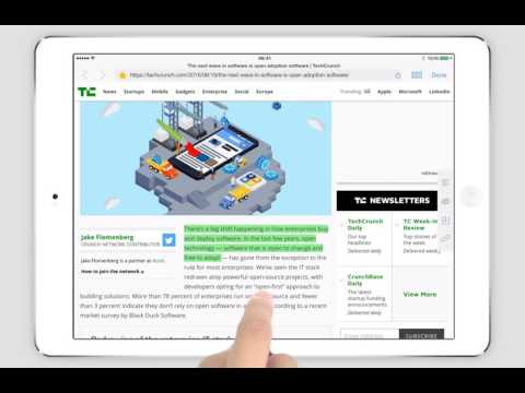 PDF Markup iPad Tutorial - Highlight Web Pages via the Built-in Browser
