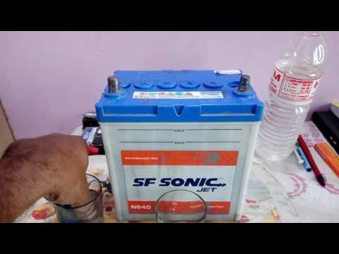 How and When to add distilled water in lead acid battery.