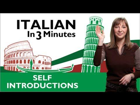 Learn Italian - Italian Self Introductions