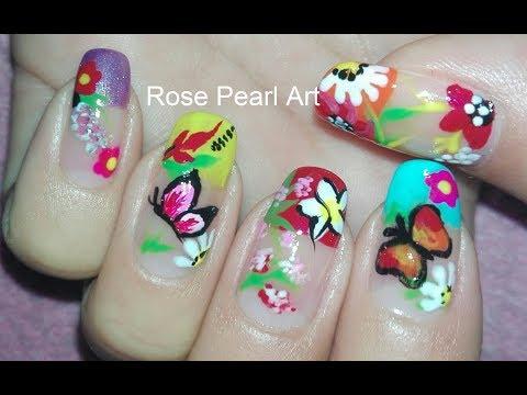 Garden Nail Art Collab with Nail Star Aura: Spring Nail Art Design | Rose Pearl
