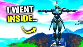 I Glitched Inside The Robot - Fortnite